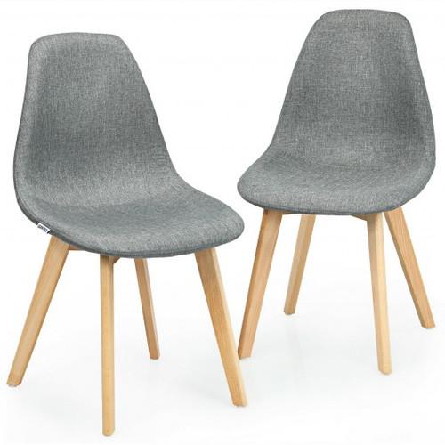 2 Pcs Modern Dining Chair Set