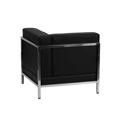 Black Leather Right Corner Chair