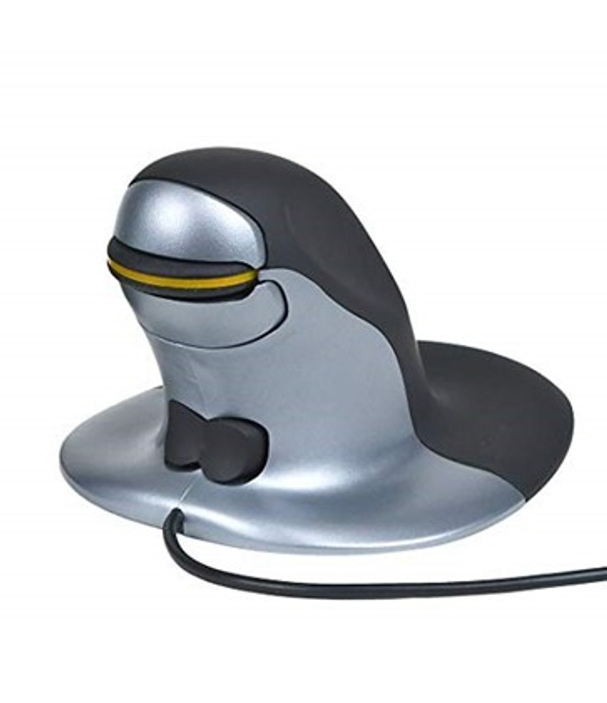 Penguin vertical Stick Mouse ambidextrous small wired