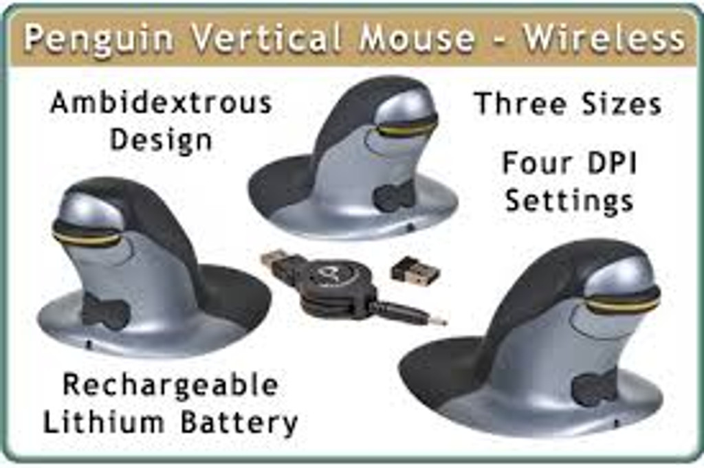 Penguin vertical stick mouse medium wireless