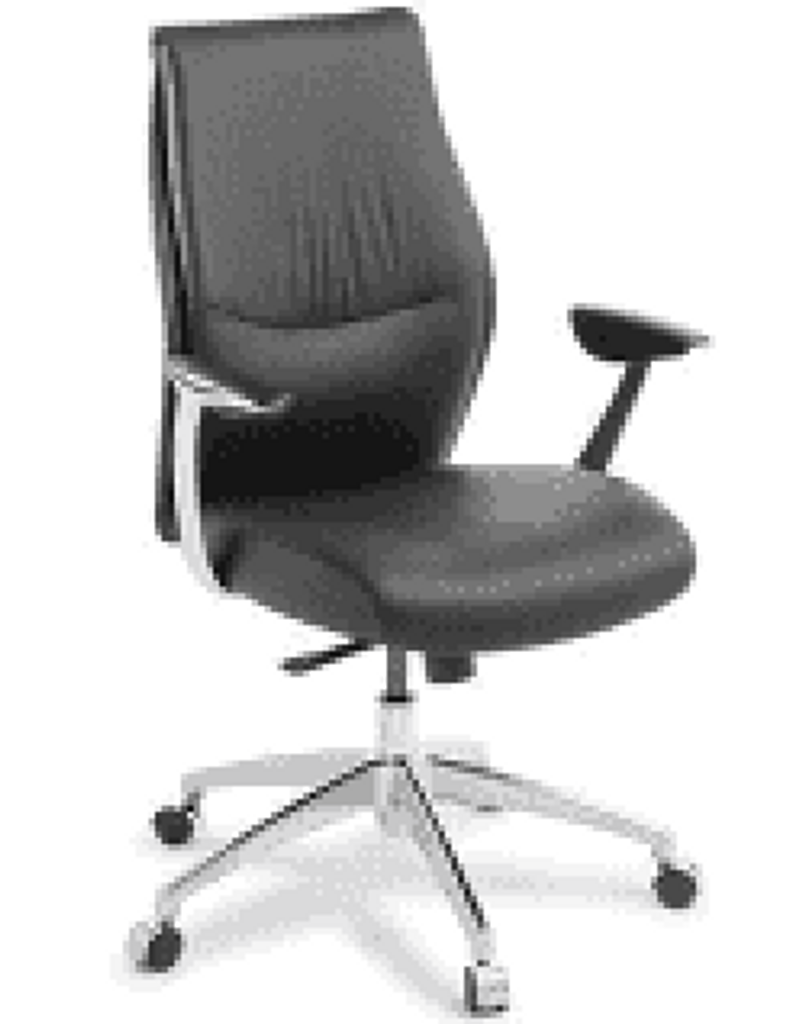 Armchair Domain Executive medium back leather Synchro