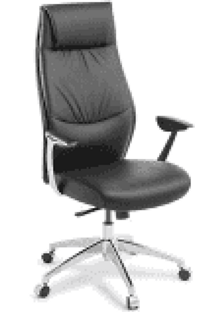 Armchair Domain Executive high back leather synchro