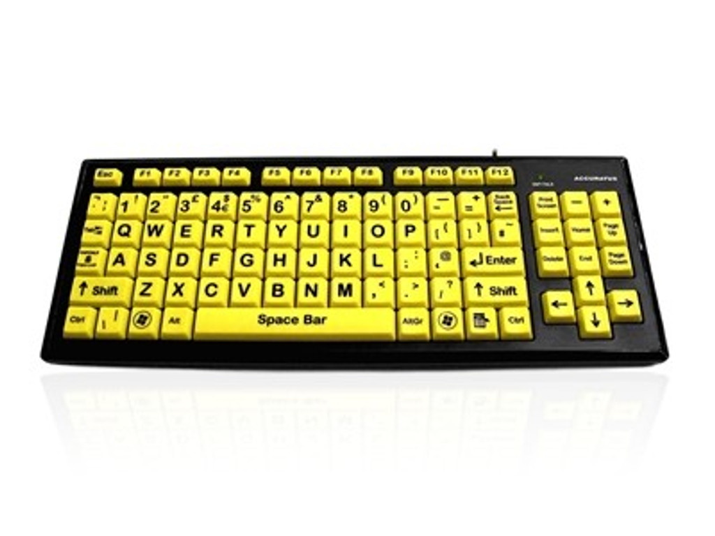 High Vis large letters and vision Assist Keyboard wired