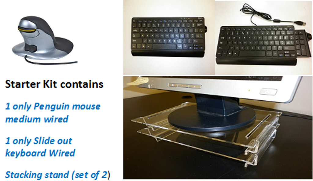 Home Office Ergo Desk Starter Kit Penguin medium wired