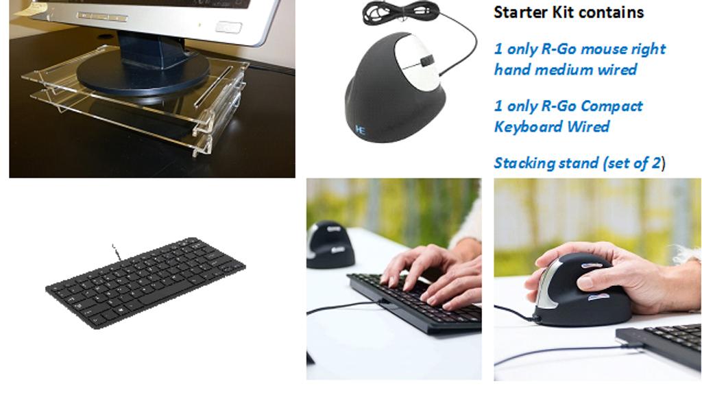Home Office Ergo Desk Starter Kit R-Go HE medium wired