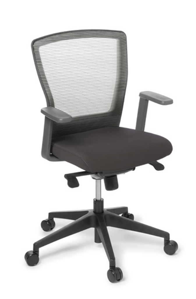 Cloud boardroom meeting chair fabric seat with half arms