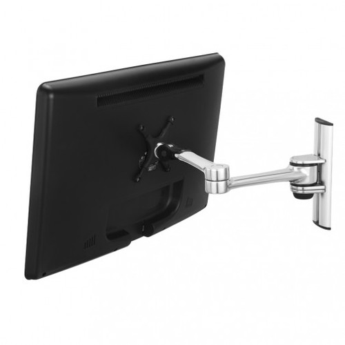 Monitor arm wall mount articulated polished