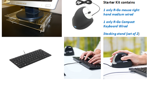 Home Office Ergo Desk Starter Kit R-Go HE medium wired