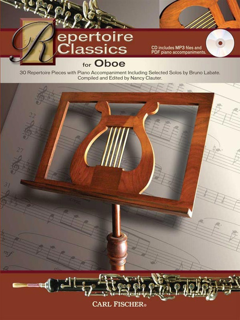 Repertoire Classics for Oboe by Nancy Clauter (Book/CD Set)