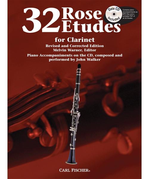 32 Rose Etudes for Clarinet by Melvin Warner (Book/CD Set)