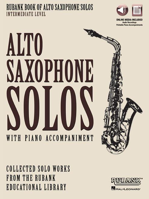 Rubank Book of Alto Saxophone Solos, Intermediate Level (with Online Media)