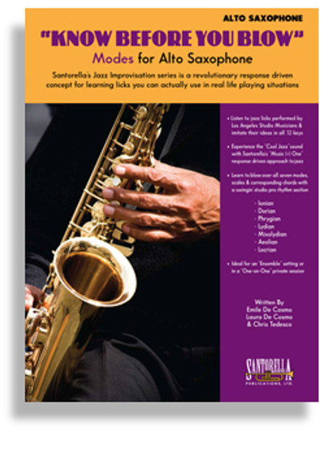 """Know Before You Blow"" Modes for Alto Saxophone (Book/CD Set)"