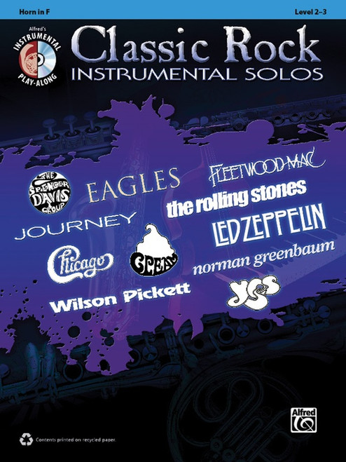 Alfred's Instrumental Play-Along - Classic Rock Instrumental Solos, Level 2-3 for Horn in F (Book/CD Set)