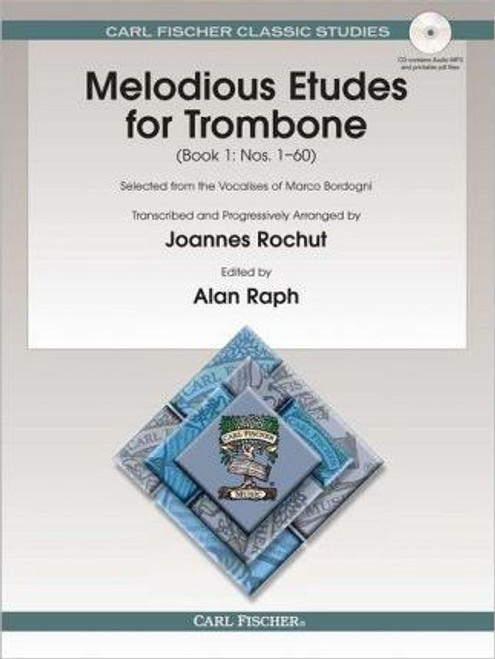 Melodious Etudes for Trombone, Book 1 (Nos. 1-60) by Joannes Rochut (Book/CD Set)