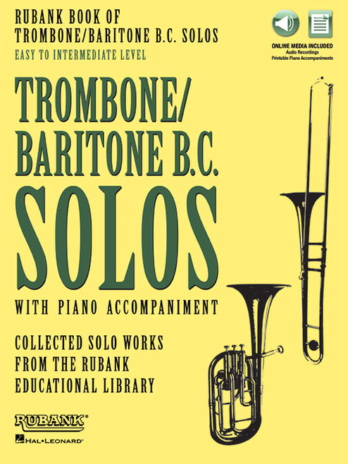 Rubank Book of Trombone/Baritone B.C. Solos: Easy to Intermediate Level (with Online Media)