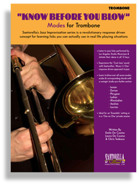 """Know Before You Blow"" Modes for Trombone by Emile De Cosmo, Laura De Cosmo & Chris Tedesco (Book/CD Set)"