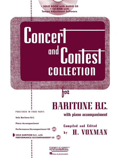 Concert and Contest Collection for Baritone B.C. (Rubank Educational Library No.294) by H. Voxman (Book/CD Set)