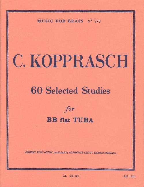 C. Kopprasch - 60 Selected Studies for BB flat Tuba (Music for Brass No. 278)