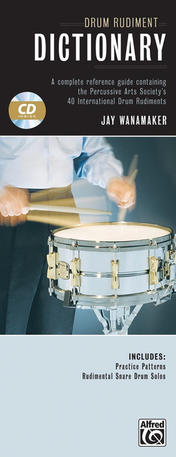 Drum Rudiment Dictionary by Jay Wanamaker (Book/CD Set)