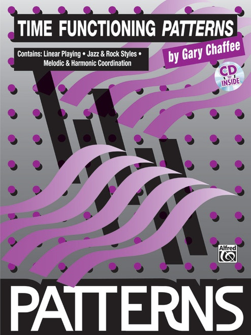 Time Functioning Patterns for Snare Drum by Gary Chaffee (Book/CD Set)