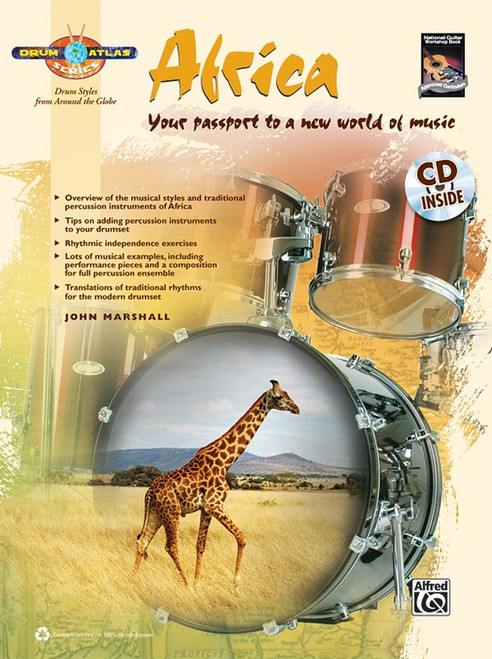 Drum Atlas: Africa for Snare Drum by John Marshall (Book/CD Set)