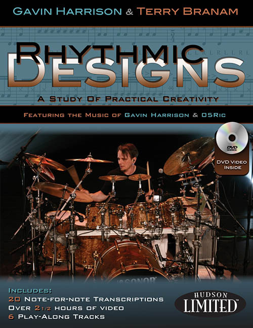 Rhythmic Designs: A Study of Practical Creativity for Snare Drum by Gavin Harrison & Terry Branam (Book/DVD Set)