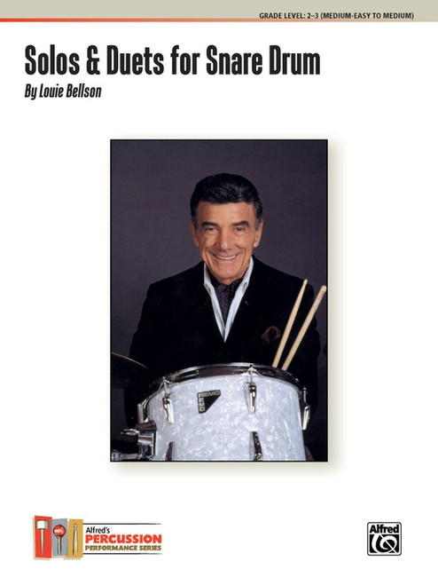 Solos & Duets for Snare Drum, Grade Level 2-3 (Medium Easy to Medium) by Louie Bellson
