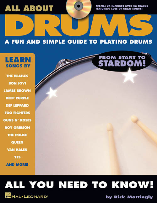 All About Drums: A Fun and Simple Guide to Playing Drums by Rick Mattingly (Book/CD Set)