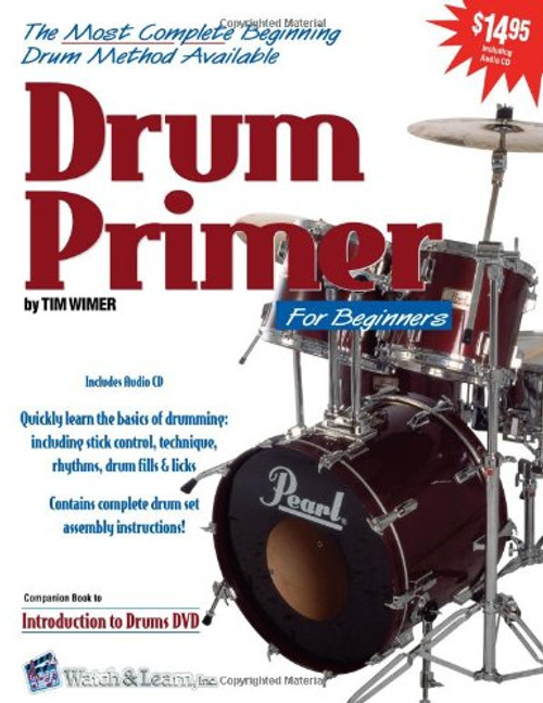 Drum Primer for Beginners by Tim Wimer (Book/CD Set)
