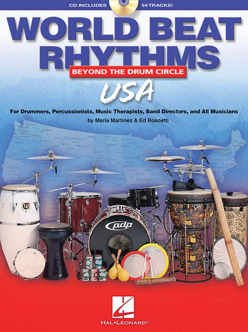 World Beat Rhythms: Beyond the Drum Circle - USA for Drumset by Maria Martinez & Ed Roscetti (Book/CD Set)