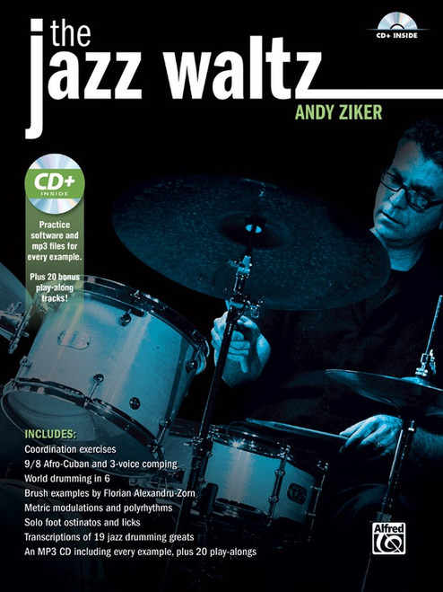 The Jazz Waltz for Drumset by Andy Ziker (Book/CD Set)