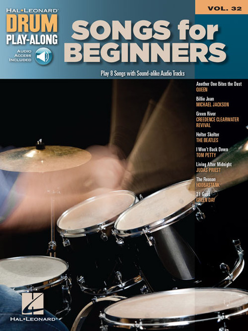 Hal Leonard Drum Play-Along Vol. 32 - Songs for Beginners (with Audio Access)
