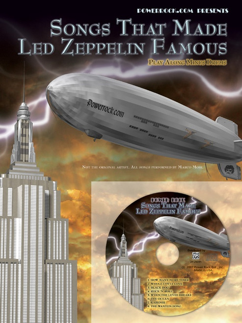 Songs That Made Led Zeppelin Famous Play Along Minus Drums CD for Drumset