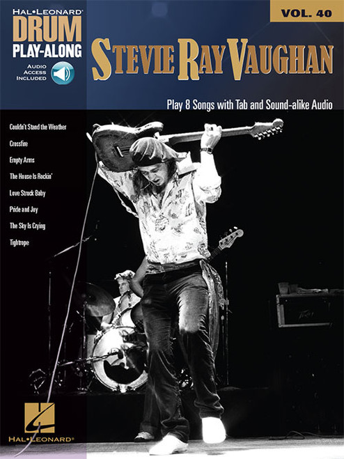 Hal Leonard Drum Play-Along Vol. 40 - Stevie Ray Vaughan (with Audio Access)