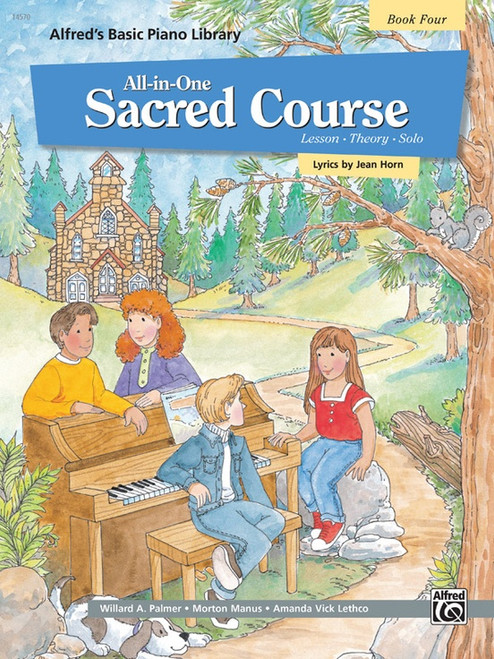 Alfred's Basic Piano Library: •All-in-One Sacred Course, Book 4