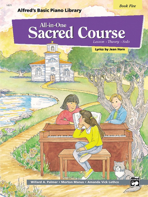 Alfred's Basic Piano Library: •All-in-One Sacred Course, Book 5