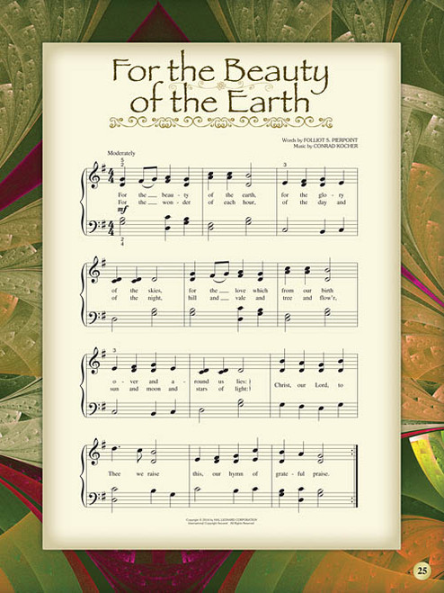 My First Hymns Song Book: •A Treasury of Favorite Hymns to Play for Easy Piano