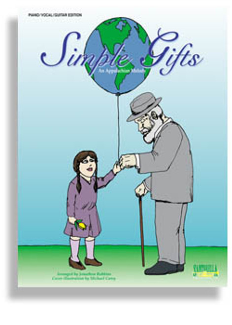 Simple Gifts Single Sheet for Piano / Vocal / Guitar Solo