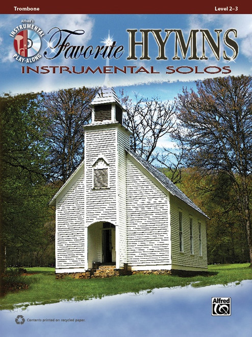 Alfred's Instrumental Play-Along - Favorite Hymns Instrumental Solos, Level 2-3 (Book/CD Set) for Trombone