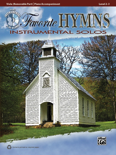 Alfred's Instrumental Play-Along - Favorite Hymns Instrumental Solos, Level 2-3 (Book/CD Set) for Viola