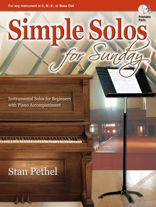 Simple Solos for Sunday (Book/CD Set) for Any Instrument in C, B♭, E♭ or Bass Clef