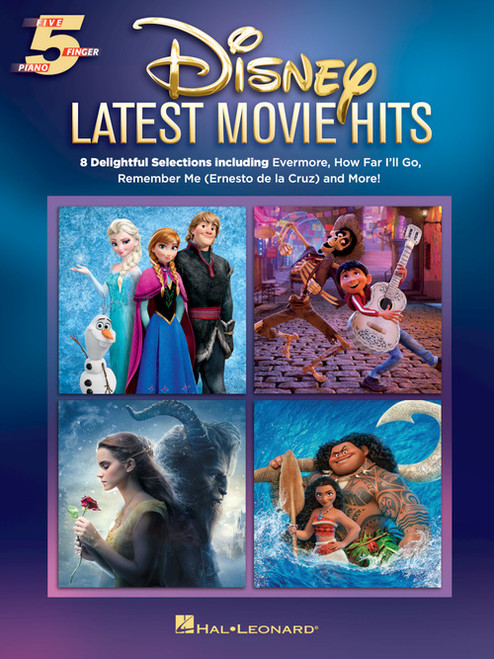 Disney - Latest Movie Hits - 5-Finger Piano Songbook