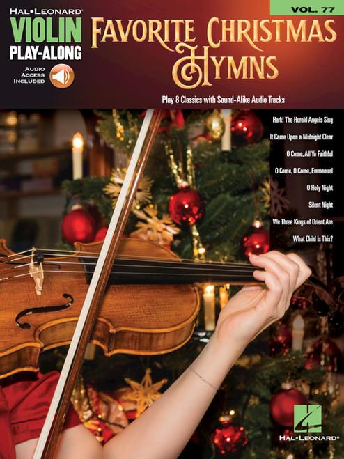 Favorite Christmas Hymns - Violin Play Along Vol. 77
