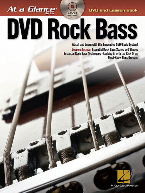 At a Glance Series - DVD Rock Bass (Book/DVD Set)