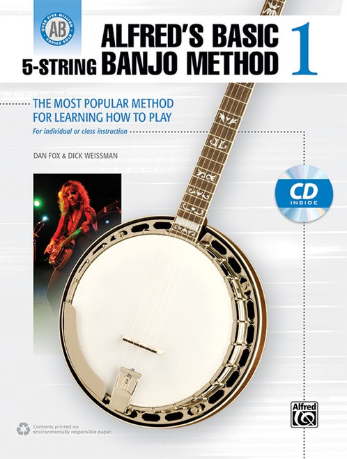 Alfred's Basic 5-String Banjo Method, Book 1 (Book/CD Set) by Dan Fox & Dick Weissman