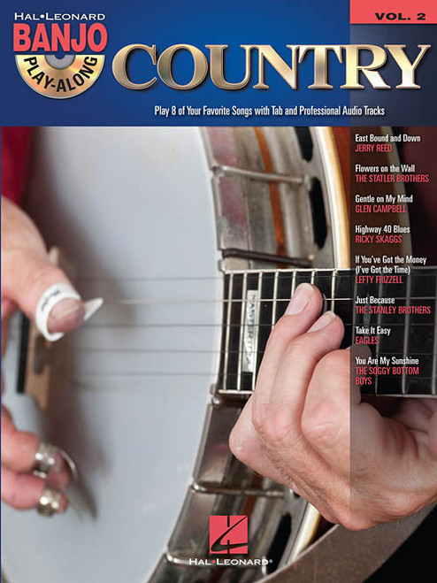 Country -- Hal Leonard Banjo Play-Along Volume 2 (Book/CD Set)