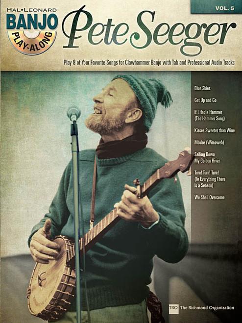 Pete Seeger -- Hal Leonard Banjo Play-Along Volume 5 (Book/CD Set)