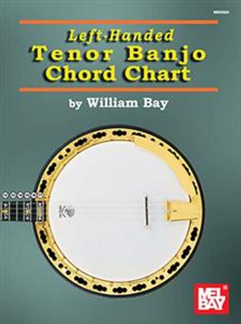 Left-Handed Tenor Banjo Chord Chart by William Bay
