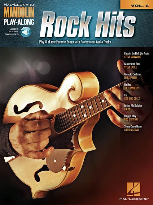 Rock Hits -- Hal Leonard Mandolin Play-Along Volume 6 (with Audio Access)