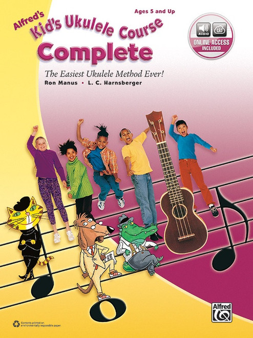 Alfred's Kid's Ukulele Course Complete (with Online Access) by Ron Manus & L.C. Harnsberger